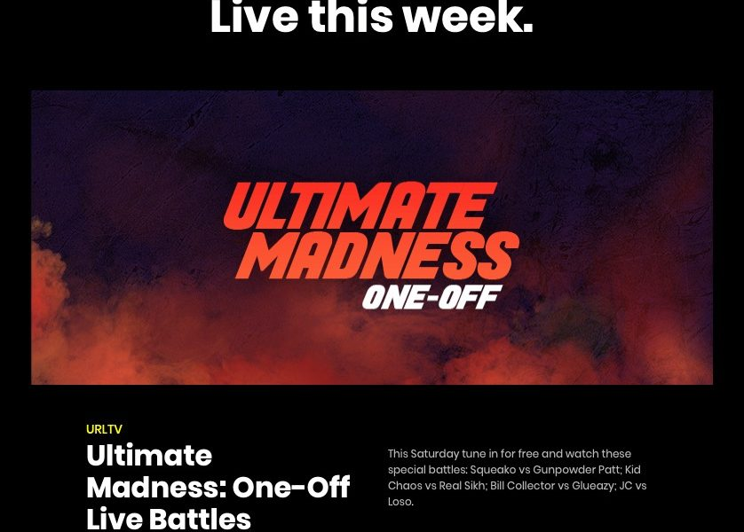 URL Presents Ultimate Madness One-Offs: Bill Collector vs. Glueazy